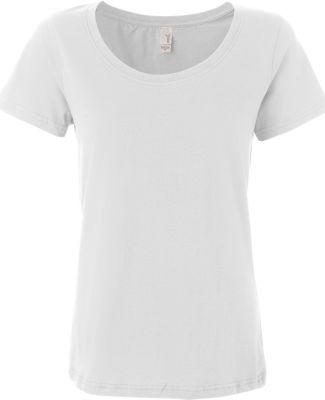 391 Anvil Ladies' Sheer Scoop-Neck Tee White