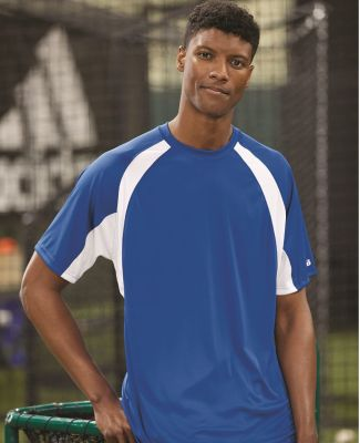 4144 Badger Adult B-Core Short-Sleeve Two-Tone Hook Tee Catalog