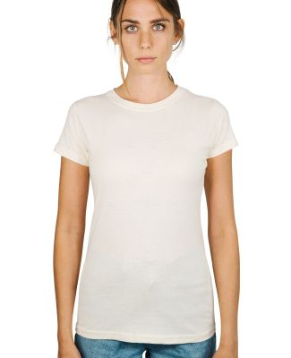 0213 Tultex Juniors Tee with a Tear-Away Tag Natural