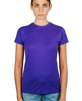 0213 Tultex Juniors Tee with a Tear-Away Tag Purple