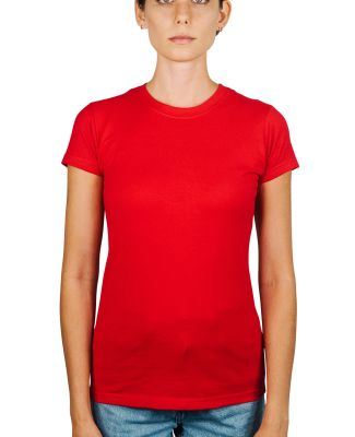 0213 Tultex Juniors Tee with a Tear-Away Tag Red
