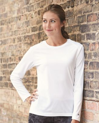 4164 Badger Ladies' B-Dry Core Long-Sleeve Tee Catalog