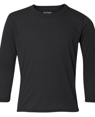 42400B Gildan Youth Core Performance Long-Sleeve T BLACK