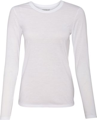 42400L Gildan Ladies' Core Performance Long Sleeve WHITE