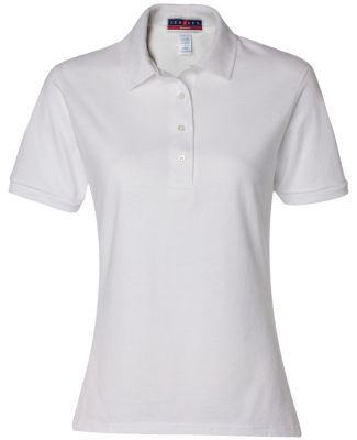 437W Jerzees Ladies' Jersey Polo with SpotShield White