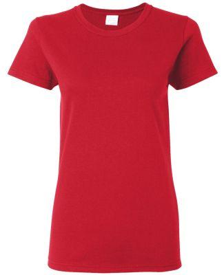 5000L Gildan Missy Fit Heavy Cotton T-Shirt RED