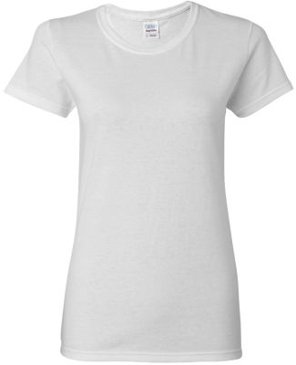5000L Gildan Missy Fit Heavy Cotton T-Shirt WHITE