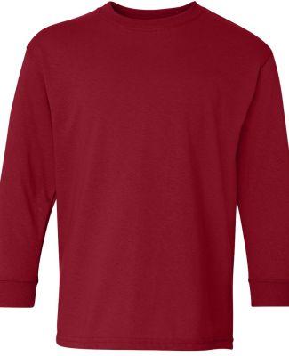 5400B Gildan Youth Heavy Cotton Long Sleeve T-Shir GARNET