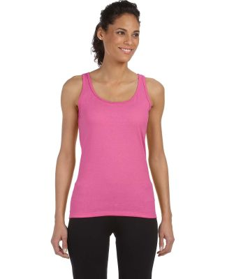 64200L Gildan Junior Fit Softstyle Tank Top AZALEA