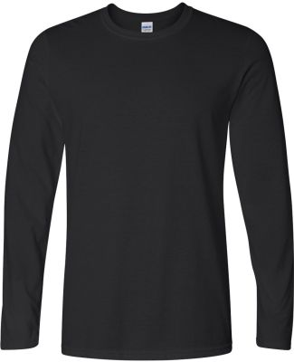 64400 Gildan Adult Softstyle Long-Sleeve T-Shirt BLACK