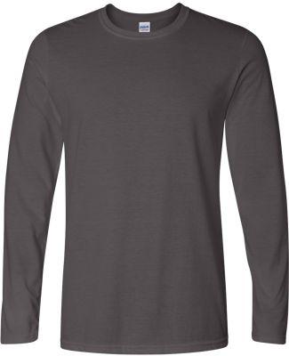 64400 Gildan Adult Softstyle Long-Sleeve T-Shirt CHARCOAL