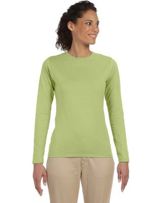 64400L Gildan Junior-Fit Softstyle Long-Sleeve T-S KIWI