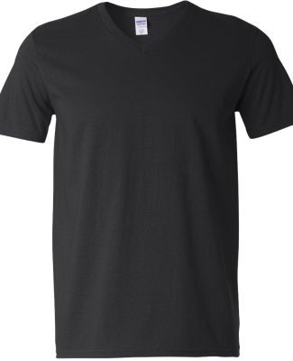 64V00 Gildan Adult Softstyle V-Neck T-Shirt BLACK