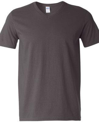 64V00 Gildan Adult Softstyle V-Neck T-Shirt CHARCOAL