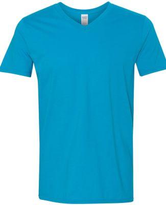 64V00 Gildan Adult Softstyle V-Neck T-Shirt SAPPHIRE
