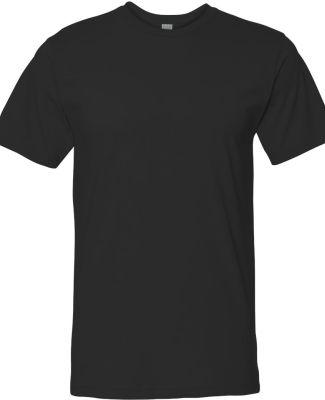 6901 LA T Adult Fine Jersey T-Shirt BLACK