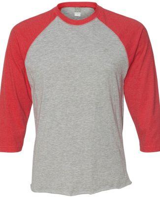 6930 LA T Adult Vintage Baseball T-Shirt VN HTHR/ VN RED