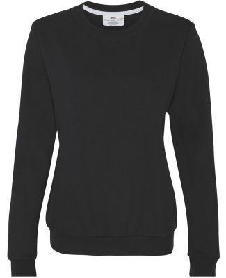 71000FL Anvil Ladies' Fashion Crew Neck Sweatshirt Black