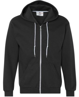 71600 Anvil Men's Fashion Full-Zip Hooded Sweatshi Black