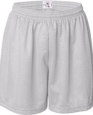 7216 Badger Ladies' Mesh/Tricot 5-Inch Shorts White