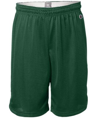 8731 Champion Logo Adult Mesh Shorts Athletic Dark Green