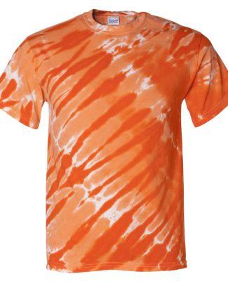 200TS Dyenomite Tie-Dye Adult Tiger Stripe Tee Orange