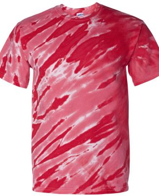 200TS Dyenomite Tie-Dye Adult Tiger Stripe Tee Red