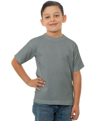 B4100 Bayside Youth Short-Sleeve Cotton Tee Ash