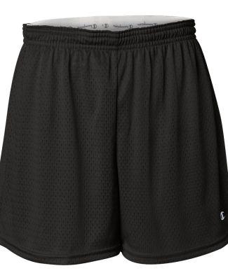 CA33 Champion Logo Ladies Active Mesh Shorts Black