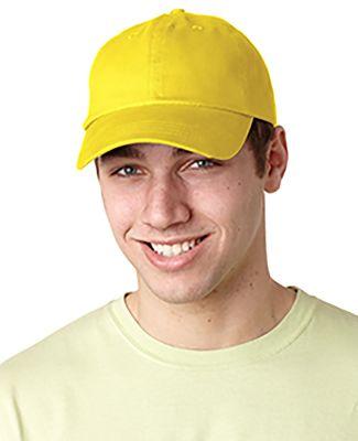 Adams EB101 Brushed Twill Dad Hat Lemon