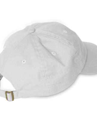 Adams EB101 Brushed Twill Dad Hat White