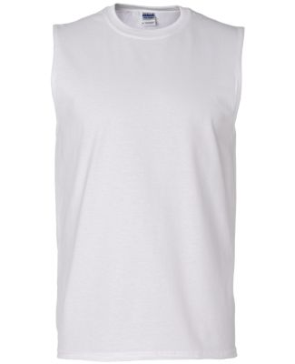 2700 Gildan Adult Ultra Cotton Sleeveless T-Shirt WHITE