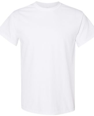 Gildan 5000 G500 Heavy Weight Cotton T-Shirt WHITE