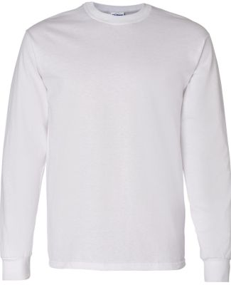 5400 Gildan Adult Heavy Cotton Long-Sleeve T-Shirt WHITE