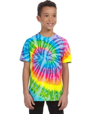 H1000b tie dye Youth Tie-Dyed Cotton Tee SATURN