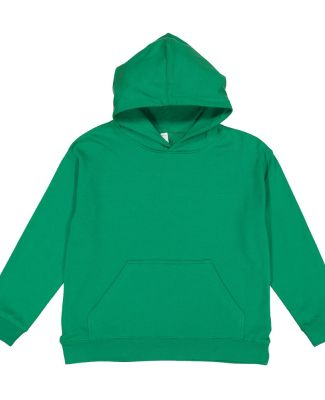 L2296 LA T Youth Fleece Hooded Pullover Sweatshirt KELLY