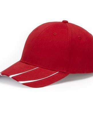 LG102 Adams Cotton Twill Legend Cap Red/White