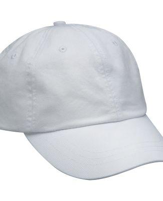 Adams LP101 Twill Optimum Dad Hat White