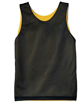 N2206 A4 Youth Reversible Mesh Tank BLACK/ GOLD