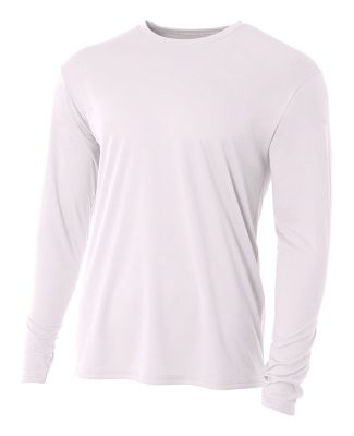 N3165 A4 Adult Cooling Performance Long Sleeve Cre White