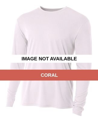 N3165 A4 Adult Cooling Performance Long Sleeve Cre Coral