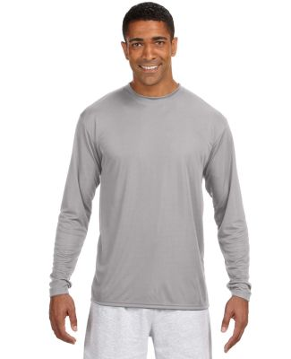 N3165 A4 Adult Cooling Performance Long Sleeve Cre SILVER