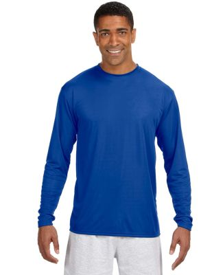 N3165 A4 Adult Cooling Performance Long Sleeve Cre Royal