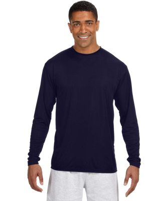 N3165 A4 Adult Cooling Performance Long Sleeve Cre NAVY