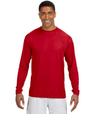 N3165 A4 Adult Cooling Performance Long Sleeve Cre Scarlet
