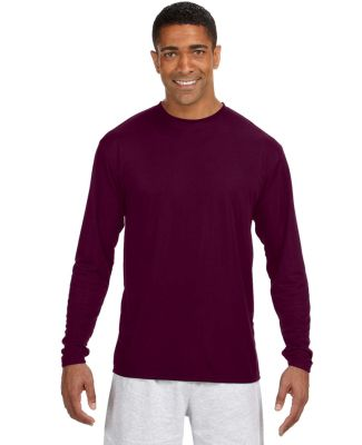 N3165 A4 Adult Cooling Performance Long Sleeve Cre Maroon