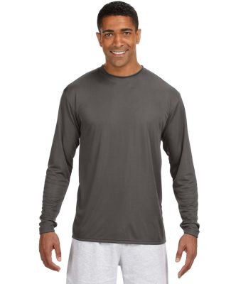 N3165 A4 Adult Cooling Performance Long Sleeve Cre GRAPHITE