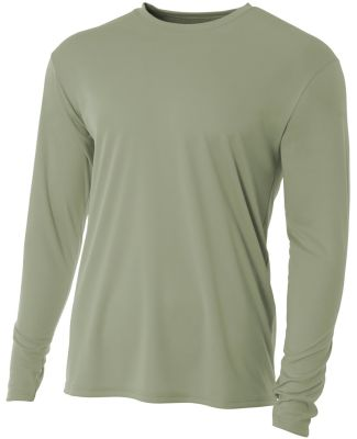 N3165 A4 Adult Cooling Performance Long Sleeve Cre OLIVE