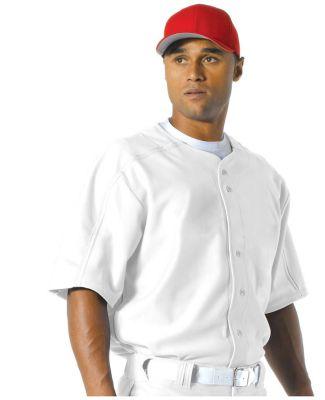 N4214 A4 Men's Warp Knit Baseball Jersey White