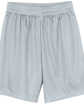 N5255 A4 9 Inch Adult Lined Micromesh Shorts SILVER